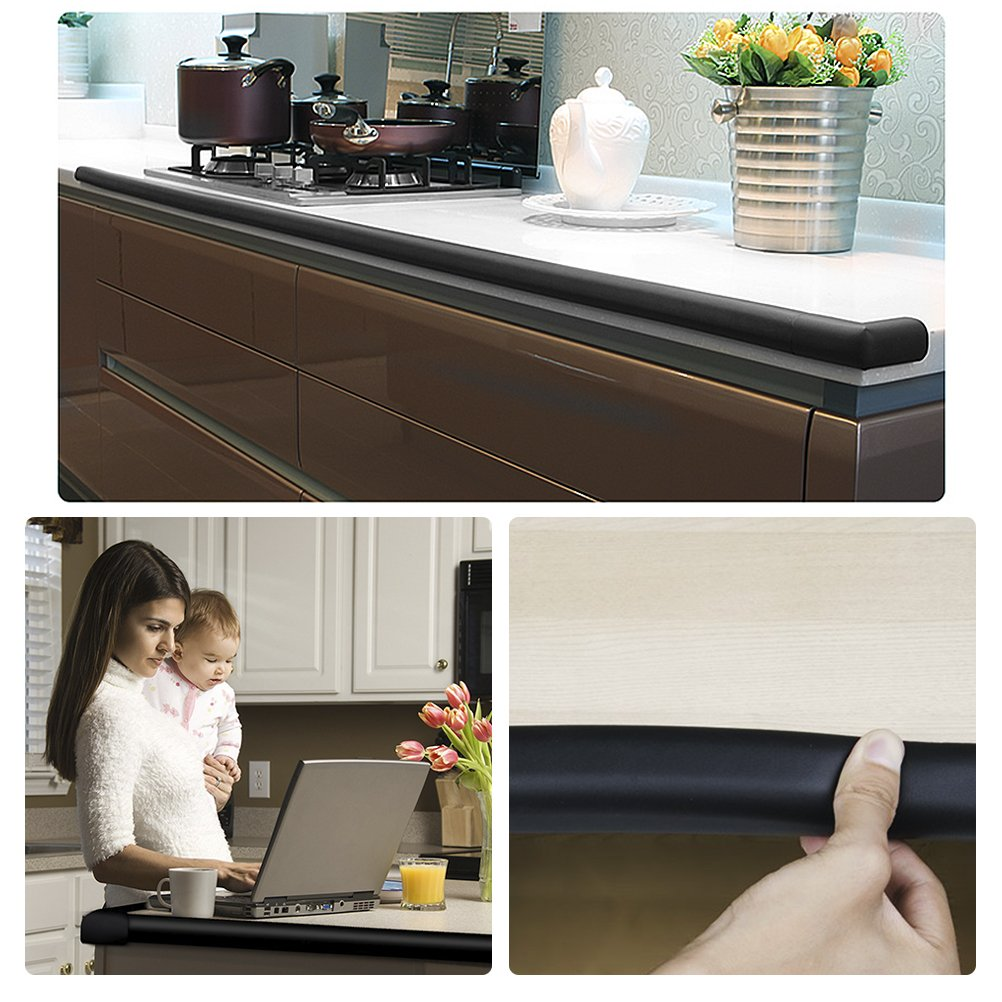 Vicloon 2m *2 Set U-Form Glastisch Kantenschutz Eckenschutz Tischkante Kissen Besch/ützer Baby Schutz aus weichem Schaumstoff