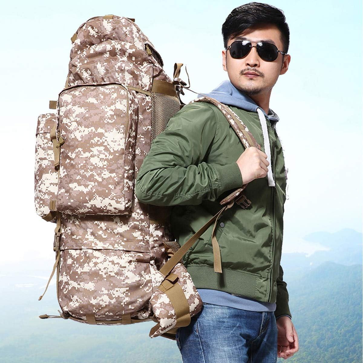 Duffel Bag 20-inch Handbag Canvas Shoulder Bag Xiaoningmeng Mountaineering Bag Brown Travel Essential Color : Rainforest Camouflage, Size : 70L