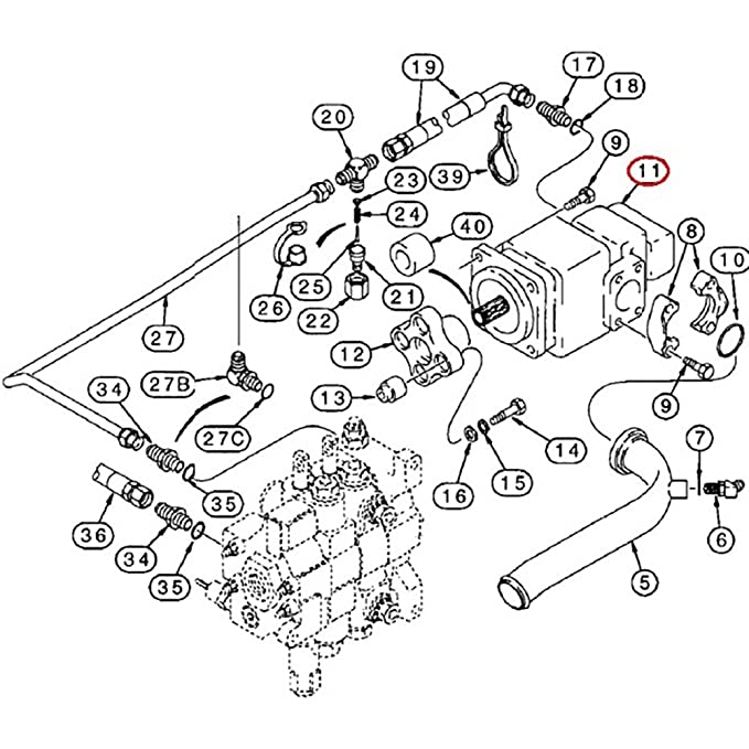 87433897 new loader backhoe hydraulic pump made to fit case 580sl series i  amazon ca tools home improvement case 580k wiring schematics case 580