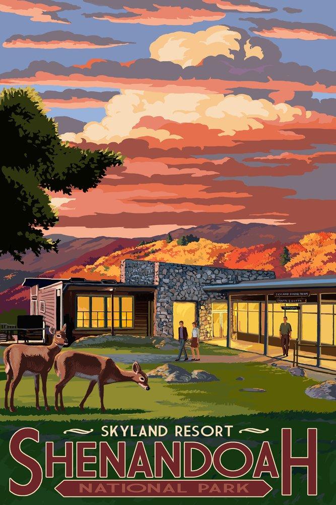 人気No.1 Shenandoah国立公園、バージニア州 – Skyland Print Resort Canvas Print Tote Bag Tote LANT-42284-TT B00N5CS2F0 9 x 12 Art Print 9 x 12 Art Print, azzurri car shop:c1063fc0 --- catconnects-ie.access.secure-ssl-servers.org