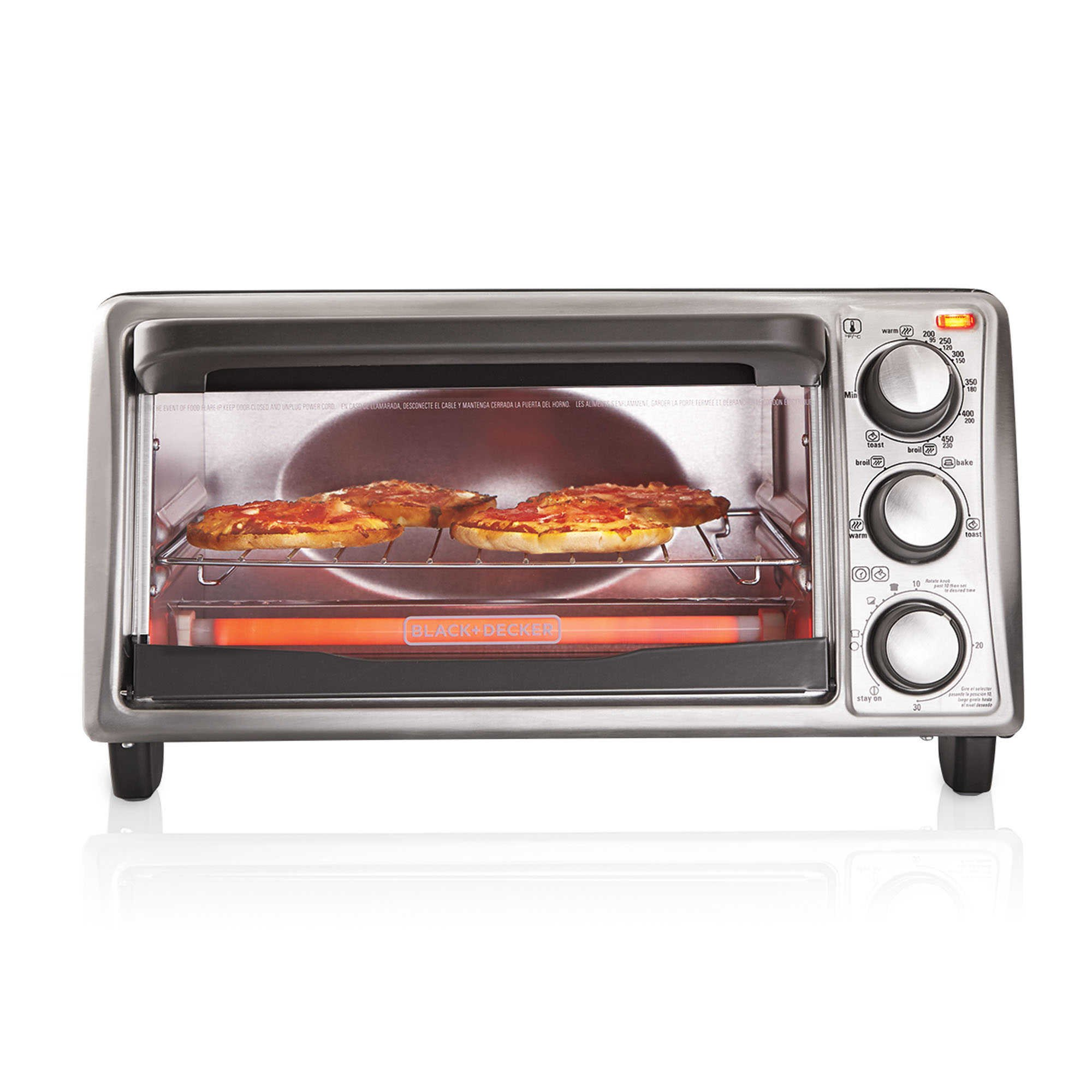 Enjoy countertop cooking versatility with the 4-Slice Toaster Oven