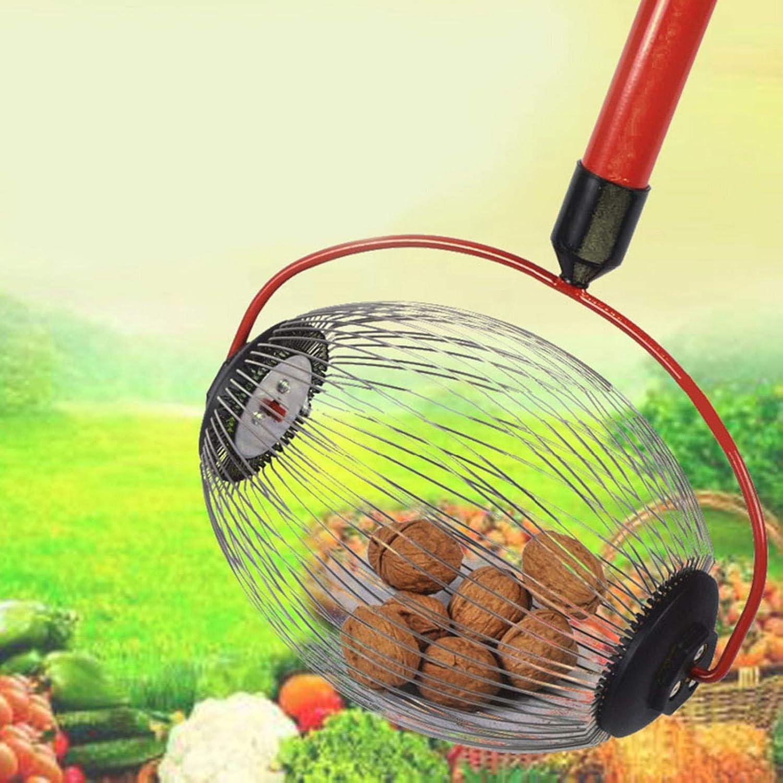 4ft Garden Rolling Nut Harvester- Length Adjustable Nut Picker Upper Roller Pecan Picker globalqi Large Nut Gatherer Walnut Picker Tool