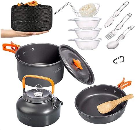 BULin Outdoor Hiking Picnic Backpacking Tableware Camping Pot Pan
