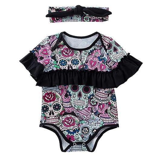 e91a9d03a7d9 Amazon.com  Toddler Baby Girls 2Pcs Clothes Sets for 0-18 Months ...