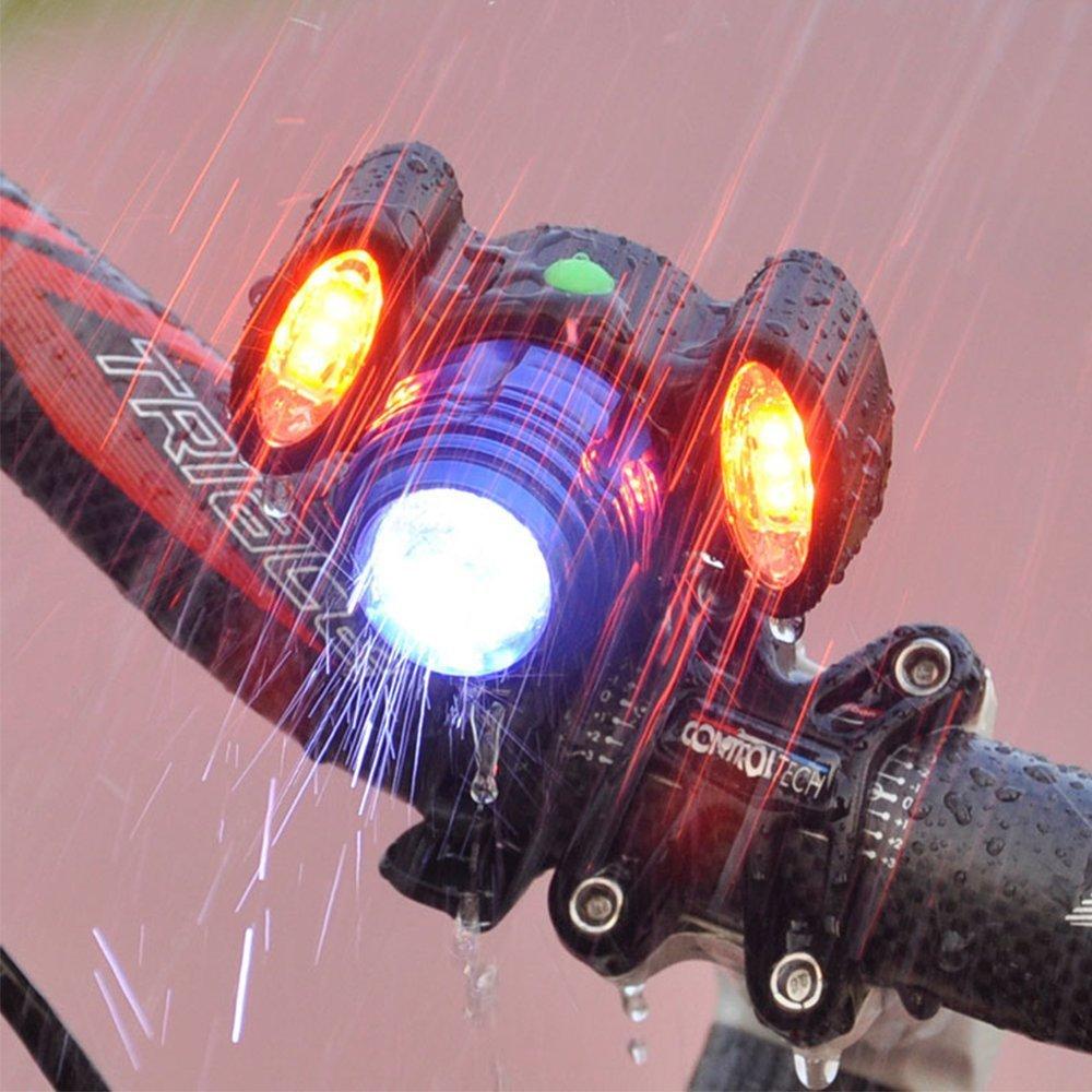HIOTECH Bike Headlight Waterproof Lamp 10W Powerful Torch Flashlight Night Riding Safety Light for Mountain Bike (Blue)