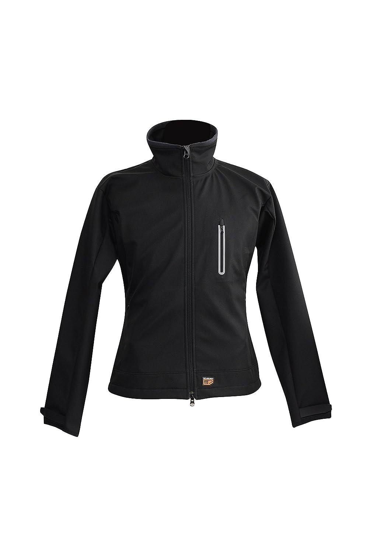 30seven beheizbare Softshelljacke für Frauen   beheizte Jacke mit aufladbarem Akku   Größen S-XXL   schwarz