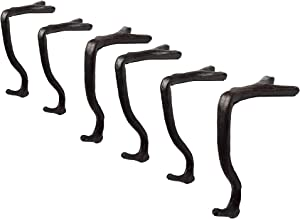 Lulu Decor,100% Cast Iron Branch Mantel Stocking Holder with Rubber Base for Better Grip, can Hold Upto 9 lbs, Natural Beautiful Shape, Simple Sophisticated Design (6 Pcs)
