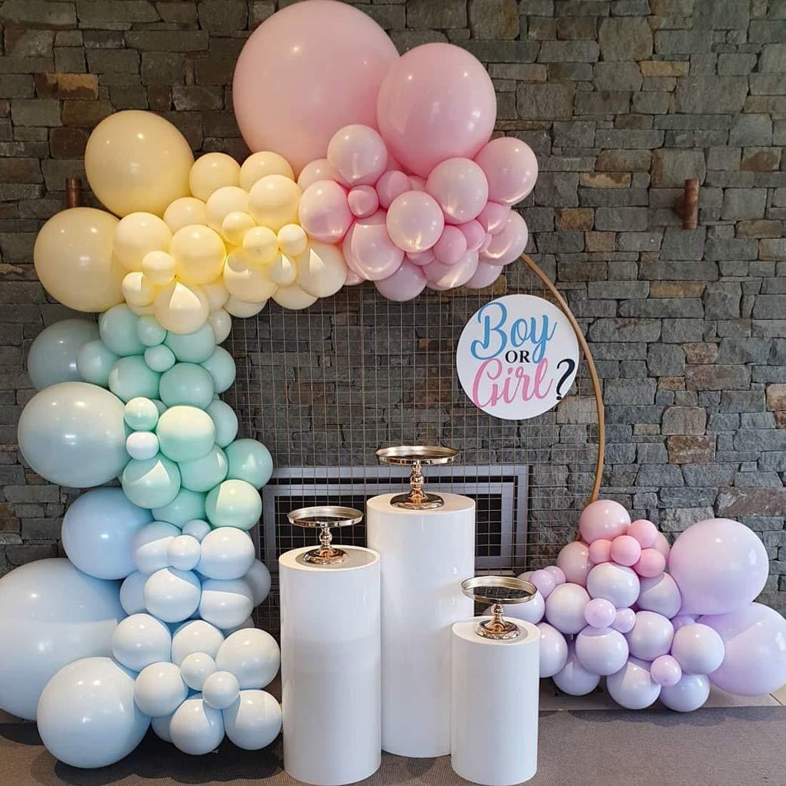 Yiran 130 Pieces Unicorn Balloon Garland Arch Kit 5M16ft Long Macaron Balloons