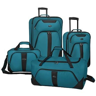 US Traveler Oakton 4-Piece Luggage Set