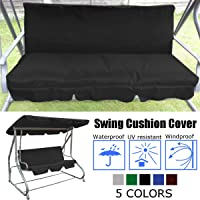 Patio Swing Cushion Cover Swing Seat Cover Replacement for 3 Seat Swing Chair Dustproof Protection 150X50X10CM, Cover Only