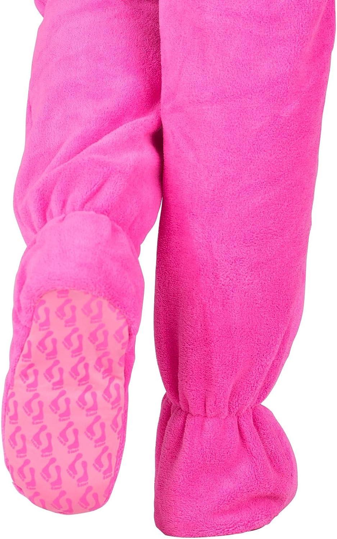 Perfect Pink Kids Hoodie Chenille Onesie Footed Pajamas