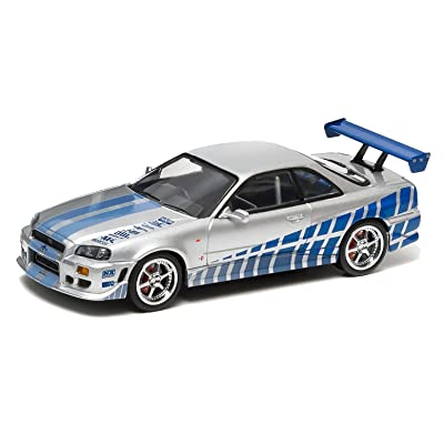 1/43 Fast & Furious 1999 Nissan Skyline GT-R Silv by Greenlight: Toys & Games