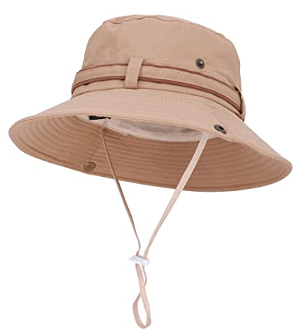 a7cc275667734 Safari Fishing Hat Water Resistant Outdoor Bonnie with Adjustable Chin Strap
