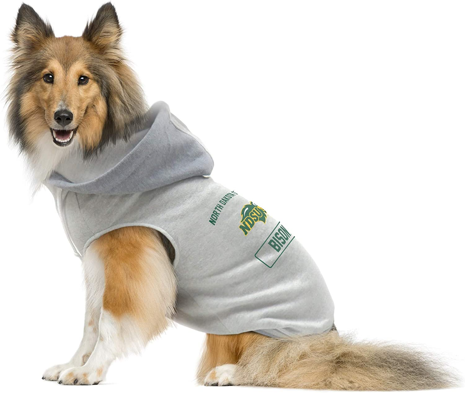Littlearth NCAA North Dakota State Bison Pet Hooded Crewneck Extra Small