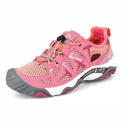 88d54f1d3ae6 Clorts Women s Water Shoe Closed Toe Quick Drying Hiking Sandal Pink 3H027D  US6.5