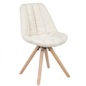 Woltu # 527 sillas Comedor Madera/Lin - Juego de 2, Silla de Cocina, Beaucoup de Colores 1 BH43cm-2 Creme: Amazon.es: Juguetes y juegos