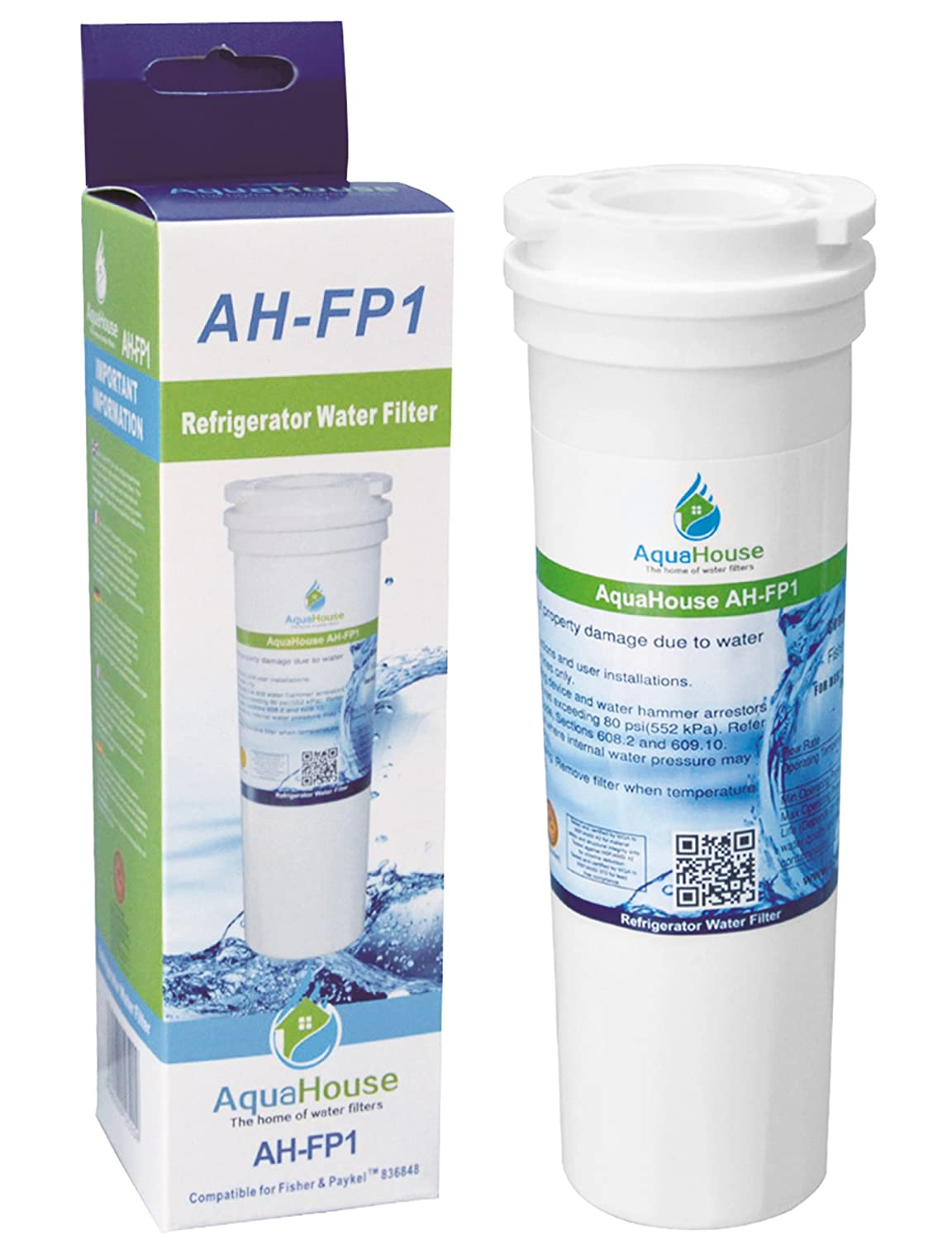 Filtro per l'acqua frigo compatibile per Fisher e Paykel 836848 836860 67003662 - Water Filter Man Ltd di marca