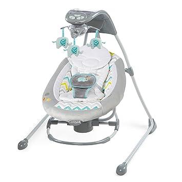 amazon com ingenuity inlighten cradling swing baby