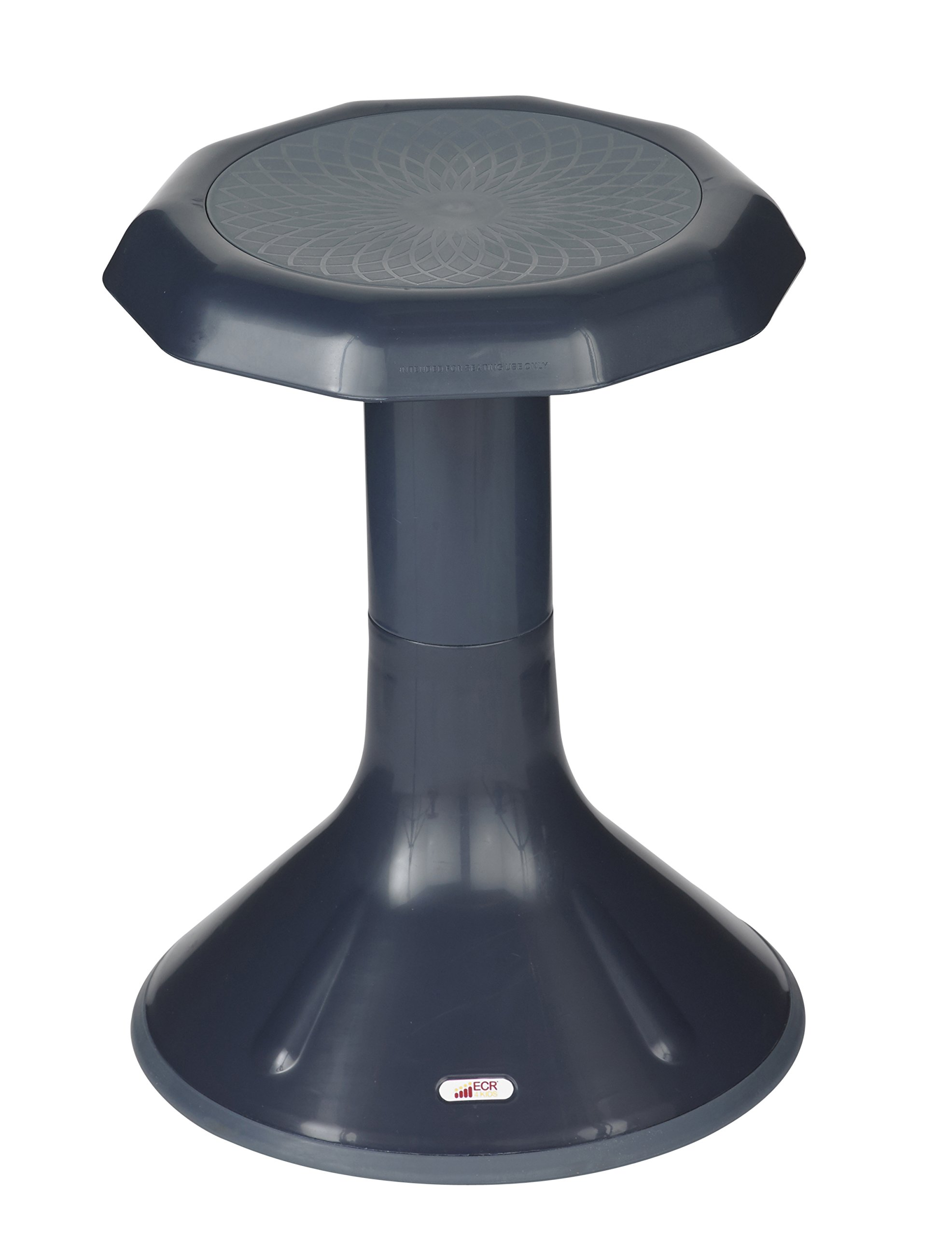 ECR4Kids ACE Active Core Engagement Stool for Kids, 18-Inch H, Navy
