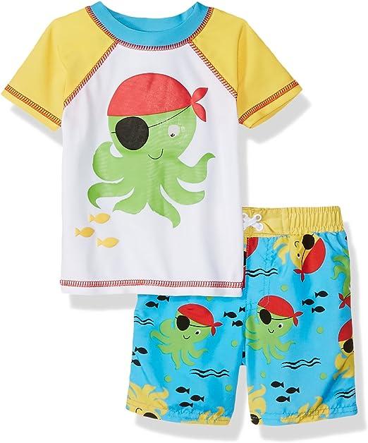 Sol Swim Boys Solo Infant-Pirate Swim Rashguard Set