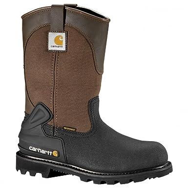 Carhartt Boots Men's 11 Inch CSA Wellington Steel Toe 8 Wide Brown/Black  Leather