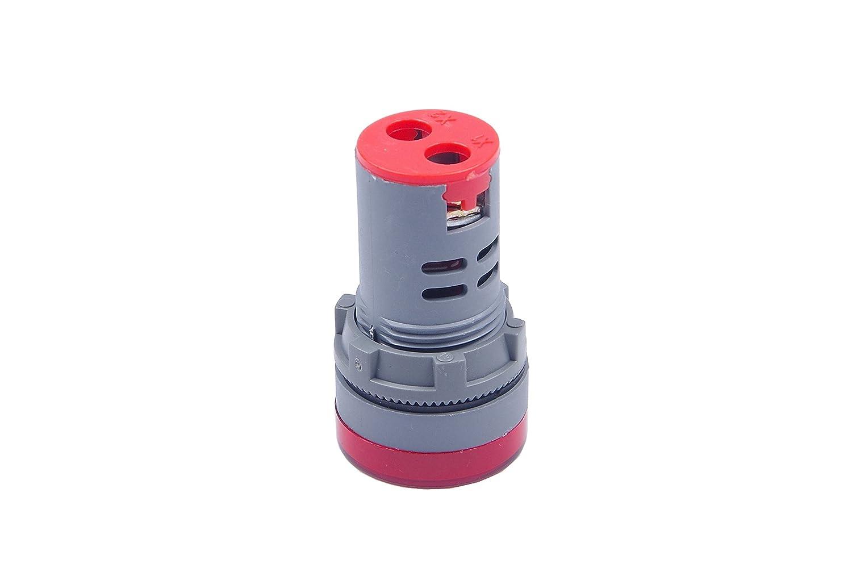 Indicator light Red LM YN AC 50-500V Digital AC Voltmeter Power indicator light LCD Display Voltmeter