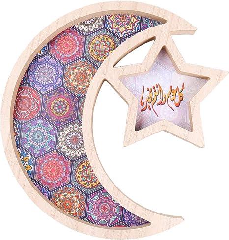 Green Metallic Star Shaped Eid Table Confetti
