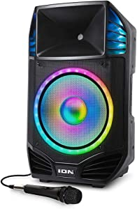 ION Audio Total PA Premier 500 Watt High Power Bi-Amplified Sound Bluetooth PA System with Lights