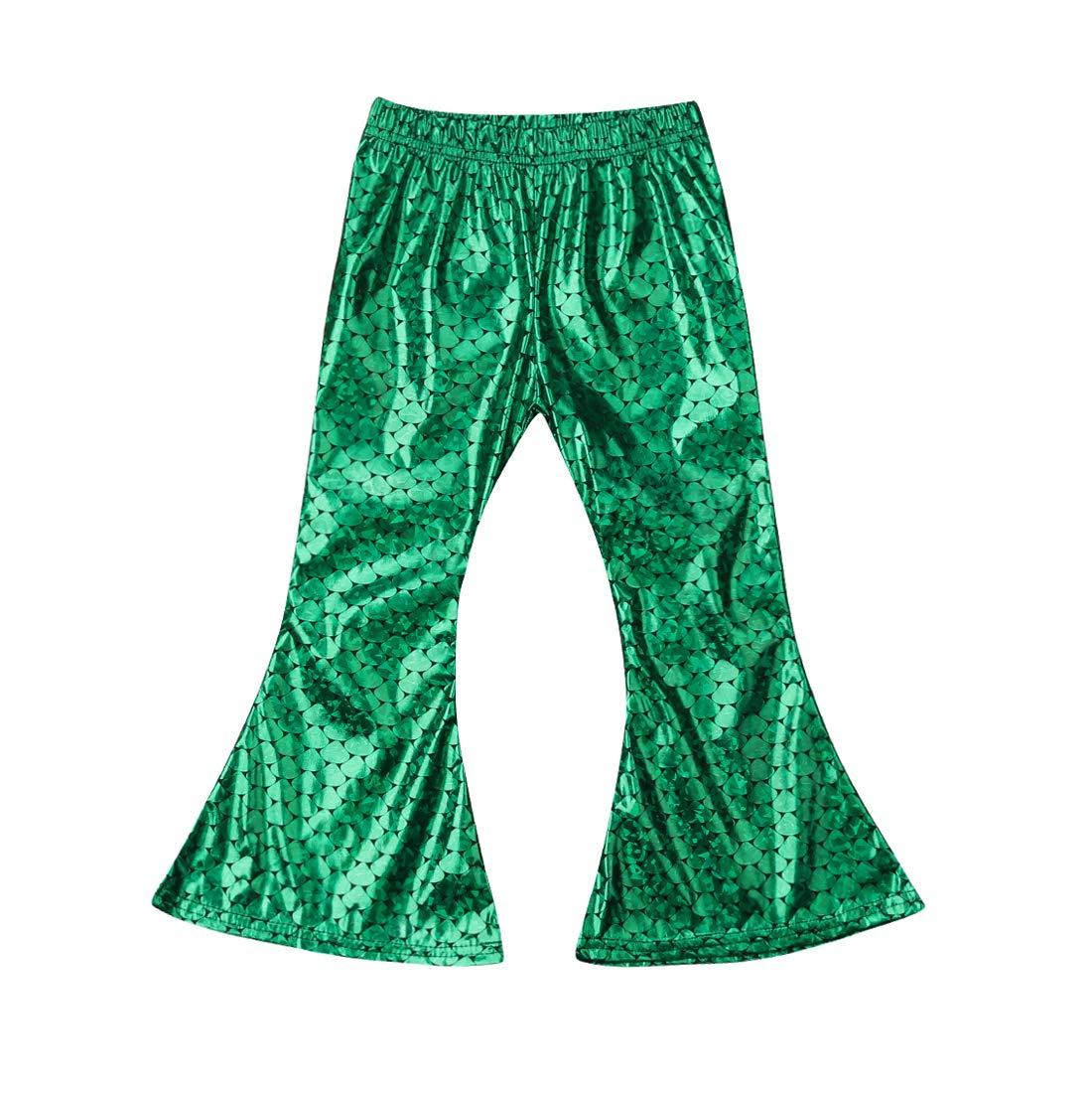 f97d58d3181a1 Galleon - Kids Baby Girls Mermaid Fish Stretch Long Flared Leggings Bell  Bottom Pants (4-5 Years, Green)