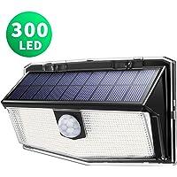 LITOM Luz Solar de Exterior Sensor de Movimiento,300 LED 3 Modos,Iluminación ángulo Ancho de 270°,IP67 Impermeable