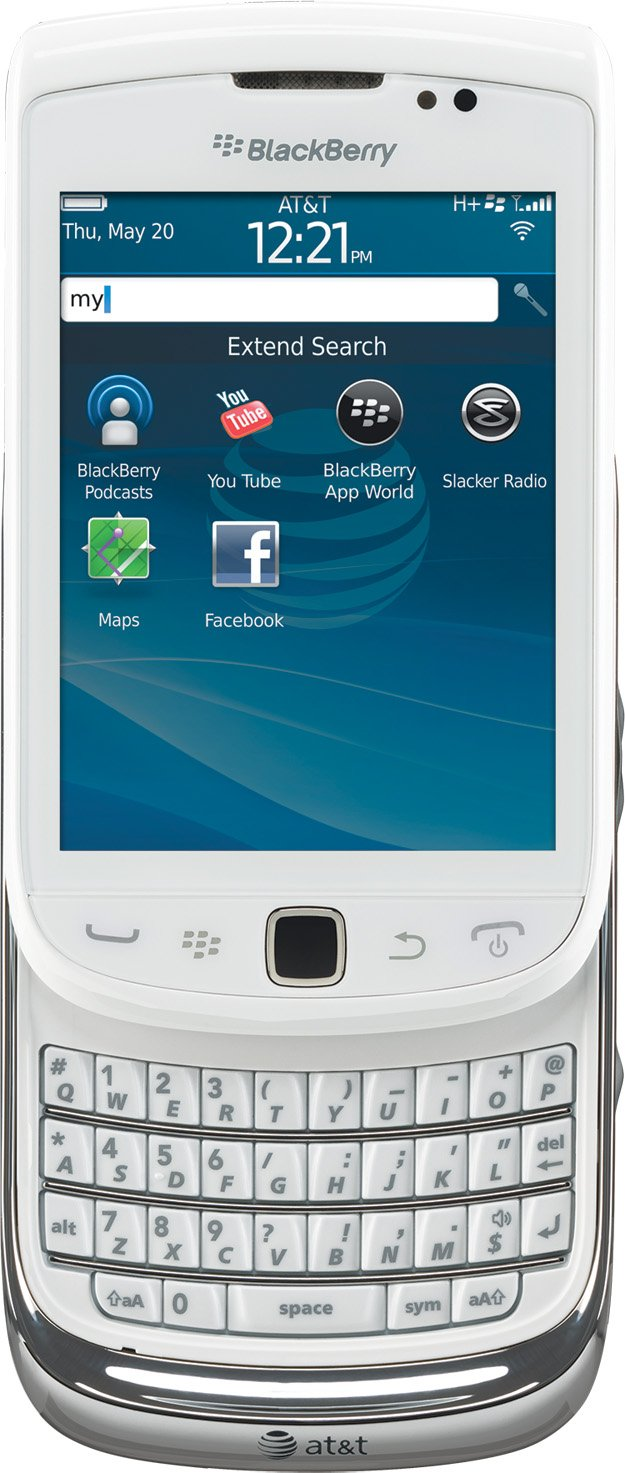 Amazon.com: BlackBerry Torch 4G 9810 Phone, White (AT&T): Cell Phones &  Accessories