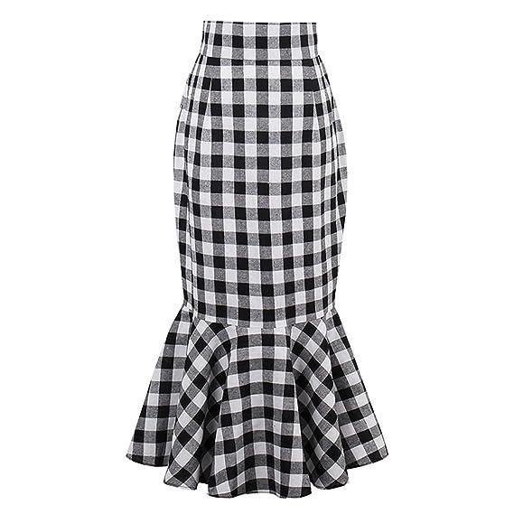 Profitd Mujer Faldas Falda Larga de la Falda del Vintage de la ...