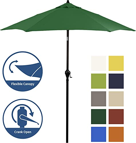 Shade Basics 7.5' Rd Crank Open Tiliting Patio Umbrella