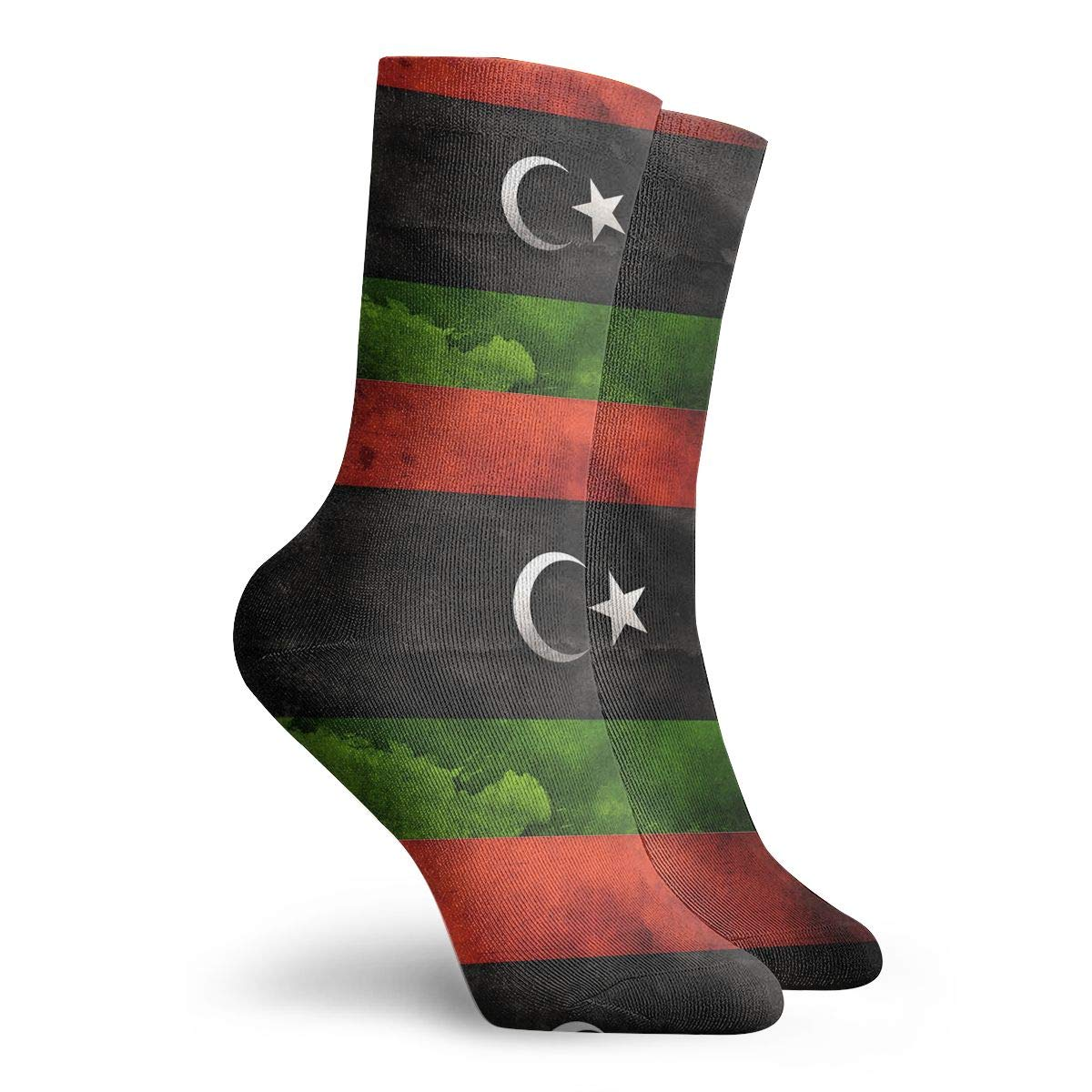 Adult Vintage Libya Flag Cushion Ankle Socks