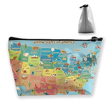 MGTXL Classic Fashion Bag American Symbol Map Travel Cosmetic Bag ...