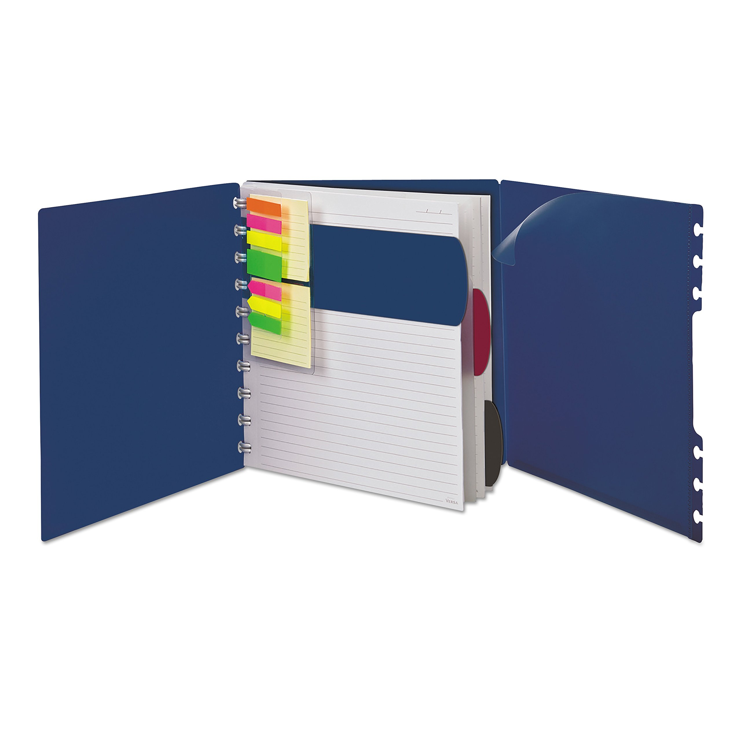 Ampad Versa Crossover Notebook, Letter Size, Wide-Ruled, Navy, 60 Sheets (25-634)