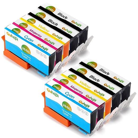 648 opinioni per Gohepi 364XL Compatibile per Cartucce HP 364XL 364, 4 Nero/2 Ciano/2 Magenta/2