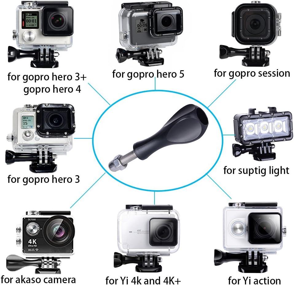 Hero 3 Session and Yi Action Sjcam Akaso Cameras Black Suptig Thumbscrews 3pcs Long Thumbscrew and 1pc Short Thumbscrew for Gopro Hero 8 Hero 7 Hero 6 Hero 5 Hero 4 Hero 3