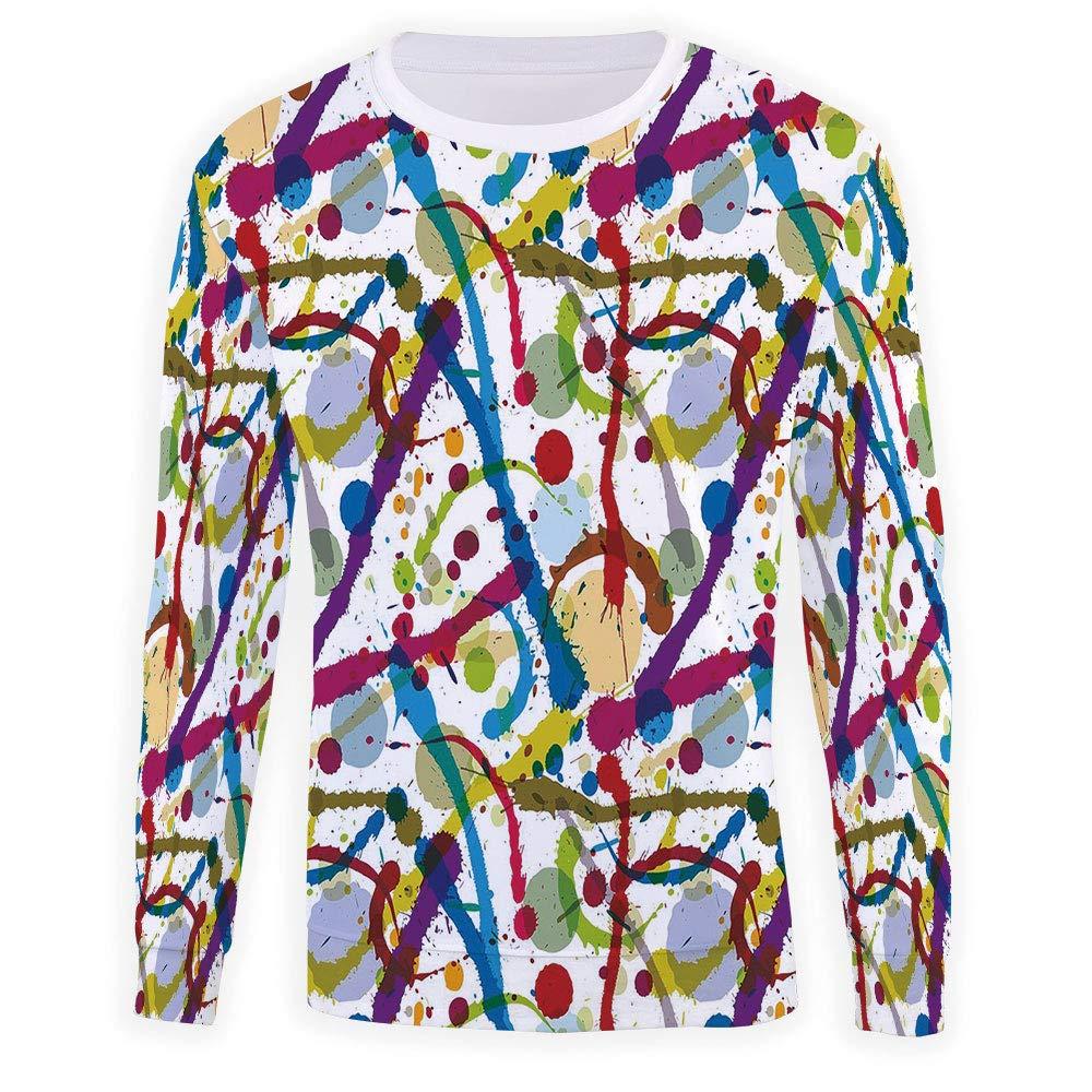 MOOCOM Mens Grunge Sweatshirt Pullover
