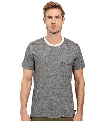 25de0c7449 7 For All Mankind Men's Short Sleeve Stripe Ringer Tee Black Ecru Mini  Stripe T-