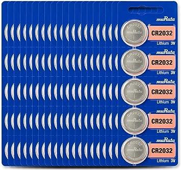 10 MURATA CR2032 LITHIUM BATTERIEN 3V COIN CELL DL2032 EXP 2029 SONY BATTERY NEU