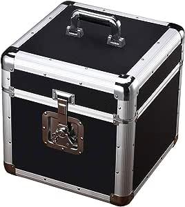 LJPzhp Almacenamiento de Discos de Vinilo Vintage Clásico Disco de Vinilo del álbum de Almacenamiento Caja de Aluminio de Registro de LP del Jugador jaulas utilizadas for la Records: Amazon.es: Hogar