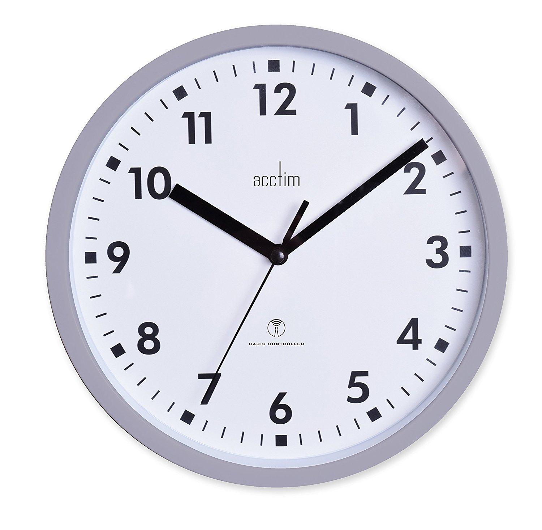 Acctim 74667 Nardo 20cm Radio Controlled Grey Wall Clock UKASNHKTN8469
