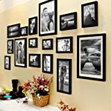 Painting Mantra Individual Photo Frame (3pc: 8X10 inches, 4pc: 6X8 inches, 4pc: 5X7 inches, 3pc: 4X6 inches, 2pc: 6X10 inches, Set of 16, Black)