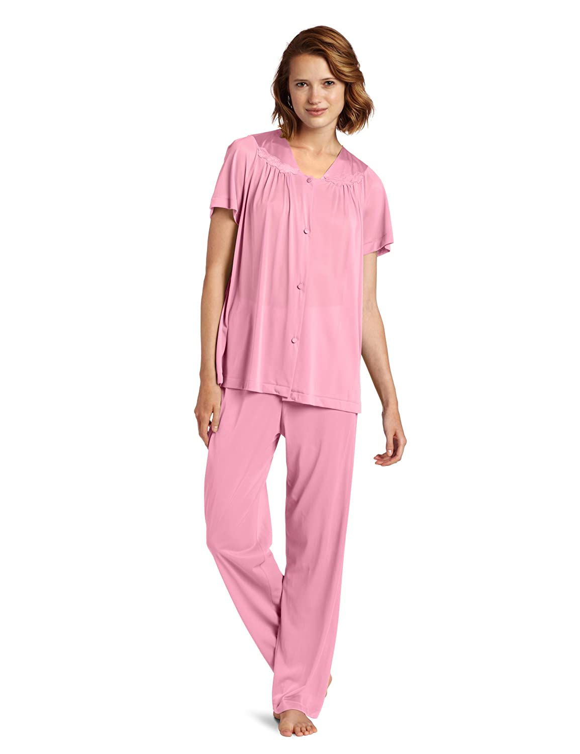3848b7006e Exquisite Form Women s Coloratura Sleepwear Short Sleeve Pajama Set 90107  at Amazon Women s Clothing store
