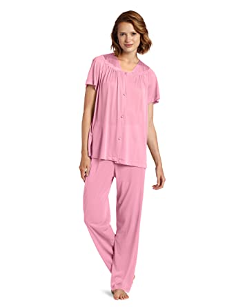 Exquisite Form Women s Plus Size Short Sleeve Pajama Set at Amazon Women s  Clothing store  0922b47fb