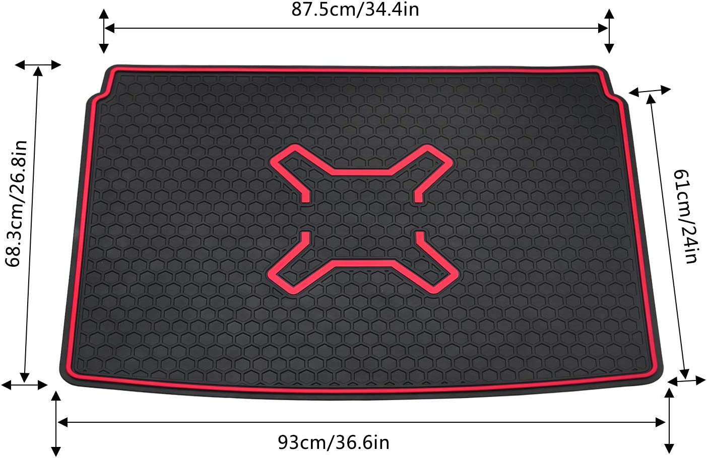 Bolaxin Rear Trunk Cargo Liner Floor Mat Waterproof Protector for Jeep Renegade 2015-2019
