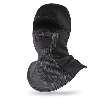 Scaldacollo da Moto Invernale con Maschera da Sci Antivento Maschera da Passamontagna per Il Freddo DIMJ Balaclava Stile Rete Traspirante