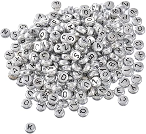 """500 Acrylic Alphabet//Letter /""""A/"""" Round Spacer Beads 7mm"""