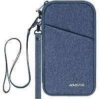 ARVOK Portadocumenti da viaggio con protezione RFID - Custodia Porta Passaporti Famiglia - Portafoglio Documenti & Organizer con Blocco RFID